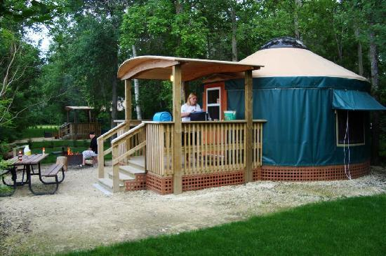 Gimli, Kanada: Yurt (outside)