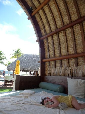 Four Seasons Resort Bora Bora: Napping in a cabana.