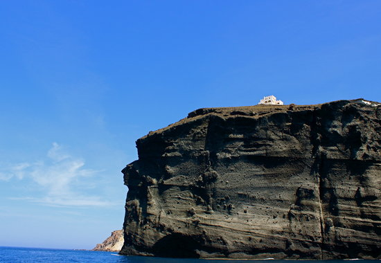 Santorini Sailing: View from the boat.