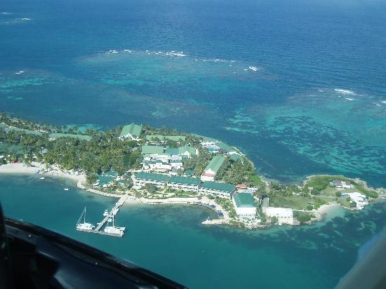 Mamora Bay, Antigua: St James Club from the Air.