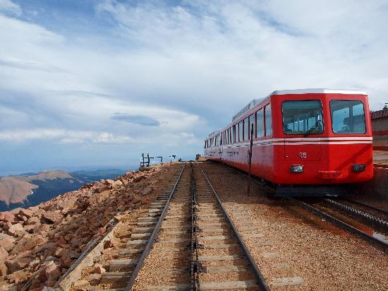 Manitou Springs, CO: Railway car at the summit of Pike's Peak