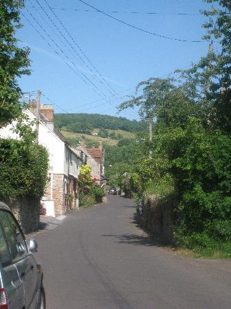 Chedwell cottage in the distance