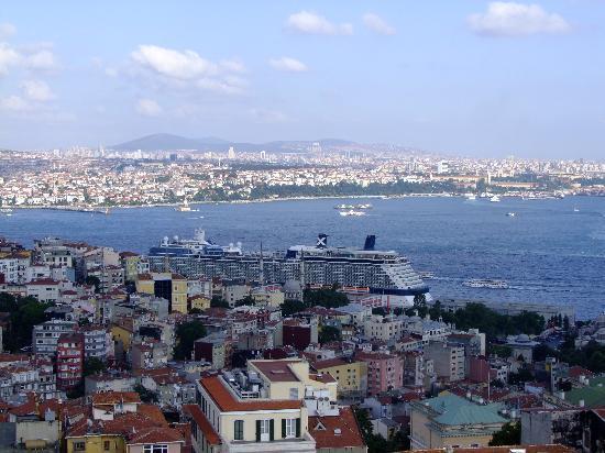 The Marmara Pera Hotel: Blick von der Dachterrasse