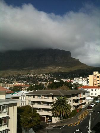 Cape Milner: View of Table Mountain from balcony