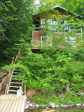 Woodhaven Country Lodge: View of the cottage from the dock