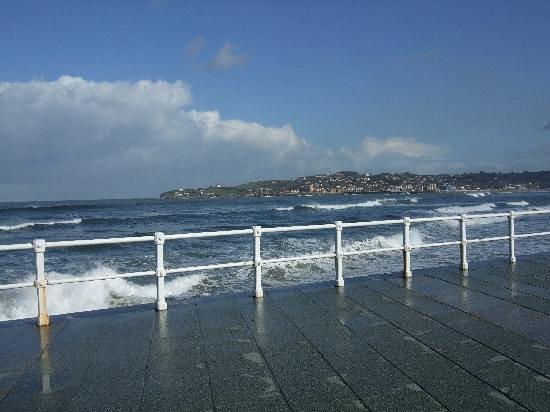 Gijon, Spanyol: Marea alta