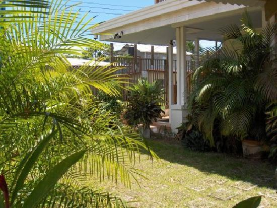 Bocas Condos: Garden patio area