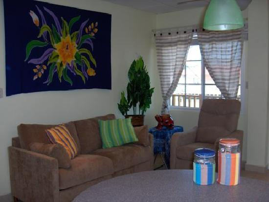 Bocas Condos: Living area:  Hide-a-bed couch