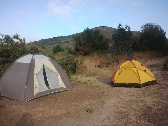 San Mateo Campground: Our tents