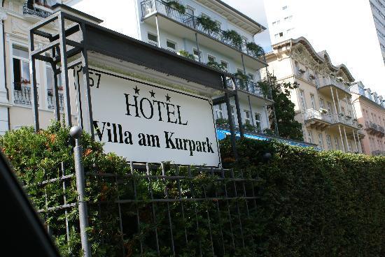 Hotel Villa Am Kurpark: von vorn