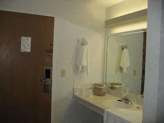 Mariner Motor Lodge: Sink and Entry door
