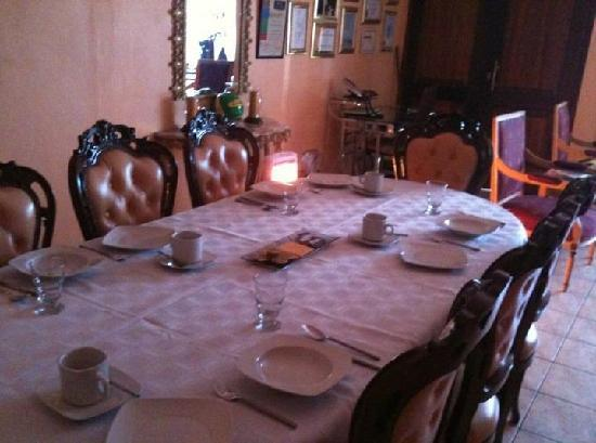 Soweto, Sydafrika: The dining room