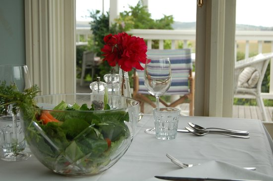 Aire Valley Restaurant: Salad from the organic Restaurant garden
