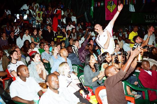 Parklands Shade Hotel : Football fans celebrating the world cup