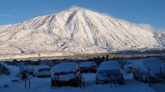 Parque Nacional del Teide, España: Teide en invierno.