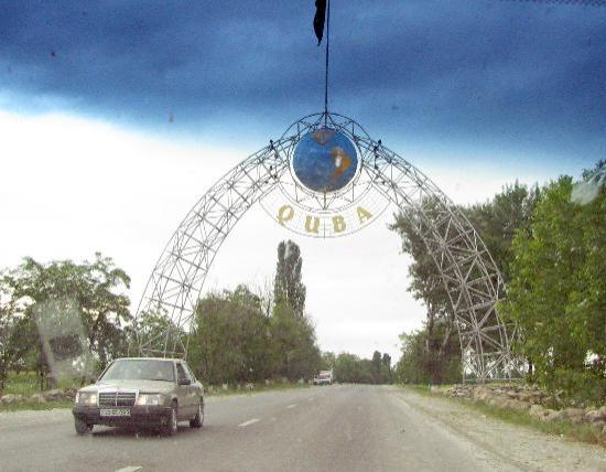 Quba, أذربيجان: Entering Quba