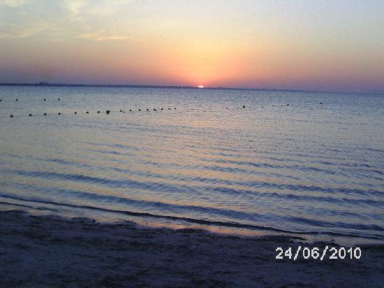 Hotel Golden Beach Monastir : Sonnenuntergang - letzter Abend
