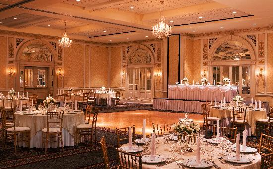 The Hotel Roanoke & Conference Center, Curio Collection by Hilton: The Crystal Ballroom set for a wedding.
