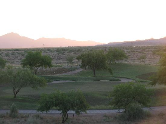 Sheraton Grand at Wild Horse Pass: View from the deck of our hotel room