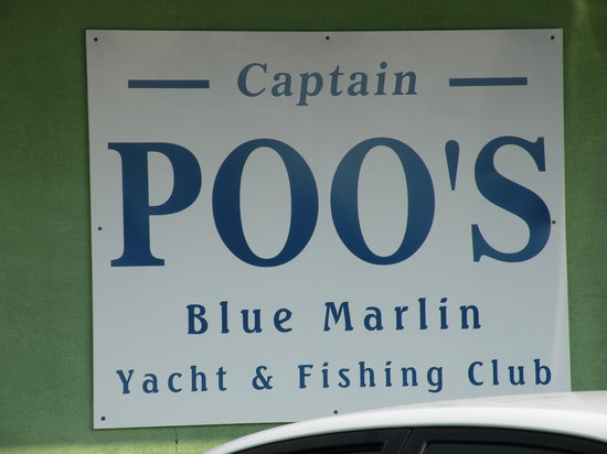 Captain Poo's Blue Marlin Yacht & Fishing Club: Sign