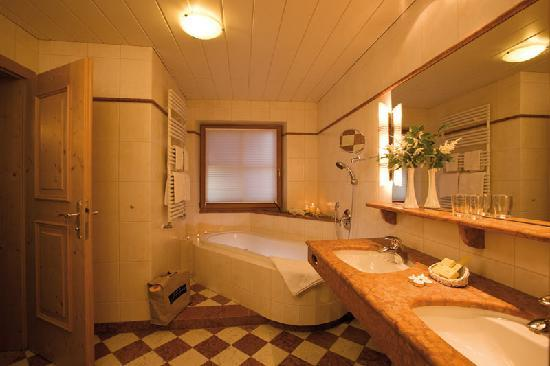 Badezimmer im Aktiv Hotel Gaspingerhof