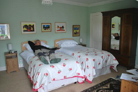 Old Bank House B&B: Comfortable twin beds in Room 2