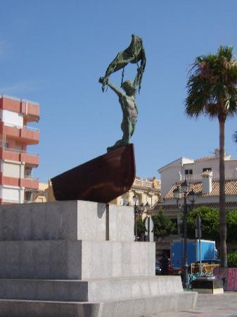 La Carihuela: Not sure if they used to fish naked but it's a nice statue