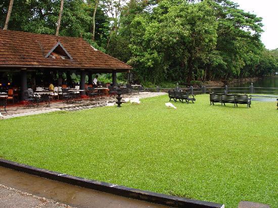Vivanta by Taj - Kumarakom : Open Restaurant facing the lake