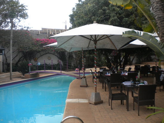 Pool and terrace at AKOA hotel