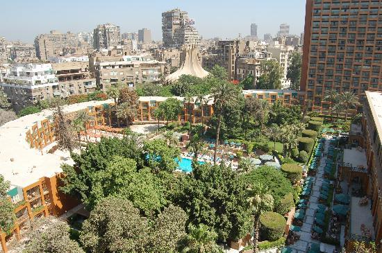 view of the courtyard /pool/gardens - Picture of Cairo Marriott ...