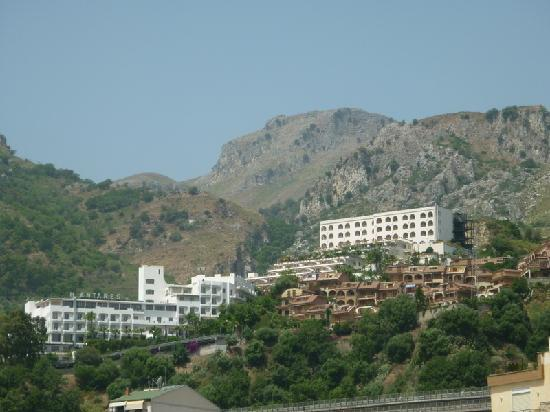 Le Terrazze: our hotel from beach motorway