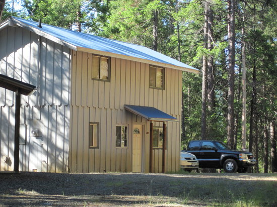 Trinity Lake Resorts & Marinas: Exterior of our 8 person cabin