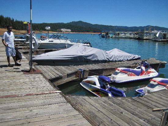 Trinity Lake Resorts & Marinas: Our rented boat slips at the marina