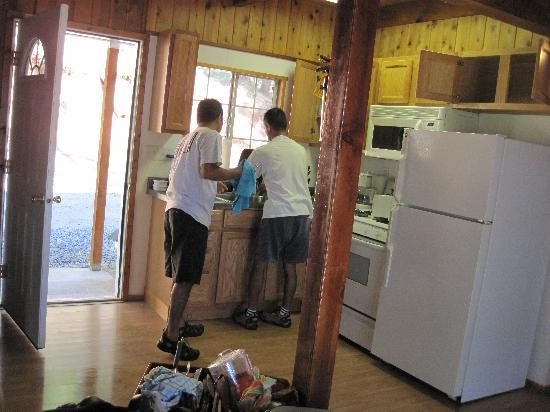 Trinity Lake Resorts & Marinas: The kitchen area