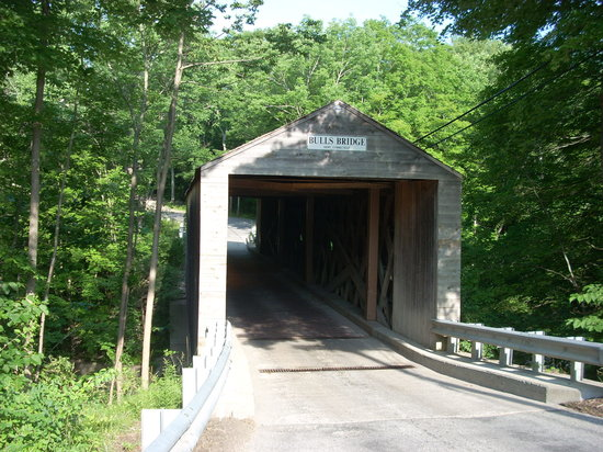 The bridge is just off route 7 in Kent, CT