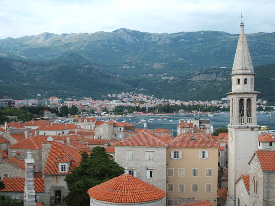 Budva, Karadağ: Old Town view from the Citadel