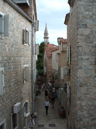 Budva, Montenegro: Typical street in the Old Town