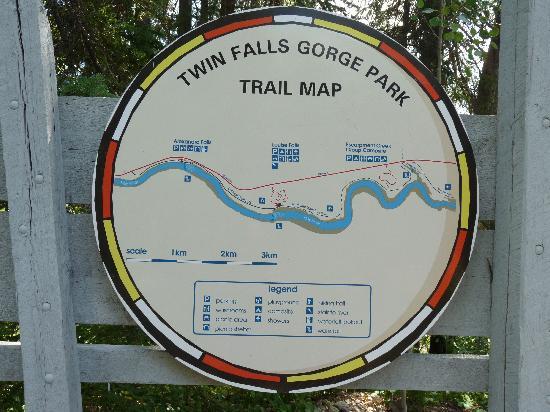 Twin Falls Territorial Park : Karte vom Park