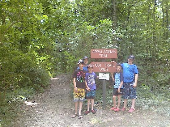 Maple Tree Campground: Appalachian Trail (around the corner)