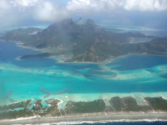 Bora Bora from the plane