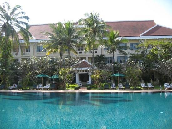 Raffles Grand Hotel d'Angkor : A view of our room from across the pool