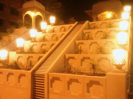 Peshawri : The newly made restaurent approach with falling water