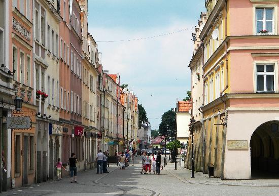 Bolesławiec, Polska: the center of the city