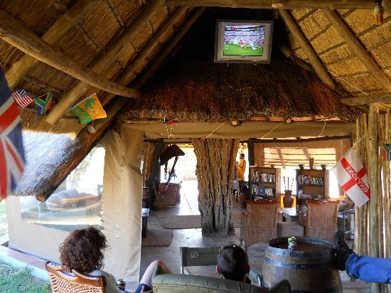 Africa on Foot Camp: Great downtime, books, games, TV, naps!