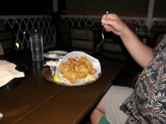 Pusser's Landing: Fish 'n chips at Pusser's West End, Tortola