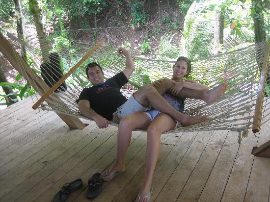 Pagua Bay House Oceanfront Cabanas : Hammock at the Cabana