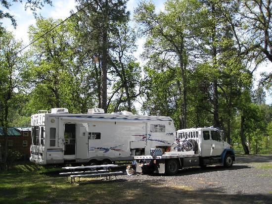 RV site with full hookups provided...