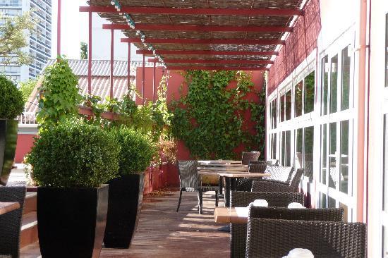Mercure Marseille Centre Prado Hotel Vélodrome: Frühstück in der Morgensonne