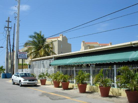 Combate Beach Resort Front Of The Hotel Restaurant Is Right In