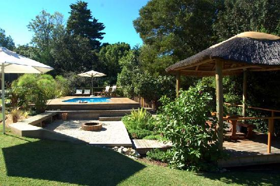 Armadillo Studios: The fire pit and braai area next to the pool